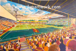 Hand Painted original of fir park on matchday